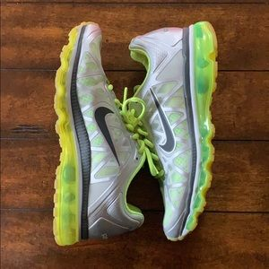 Neon & Silver Nike Shoes